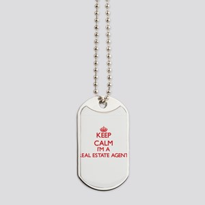 Keep calm I'm a Real Estate Agent Dog Tags